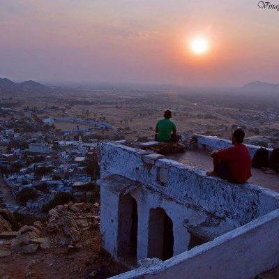 coucher du soleil a pushkar